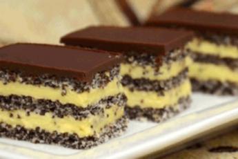 Торт с маком и ванильным кремом. Вкуснейшее сочетание!